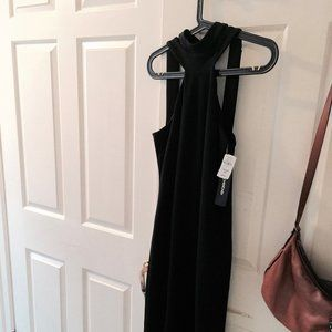 NWT BeBe Black Jersey Halter Dress
